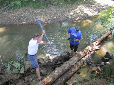Pinning logs