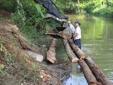 Setting logs for bank cribbing