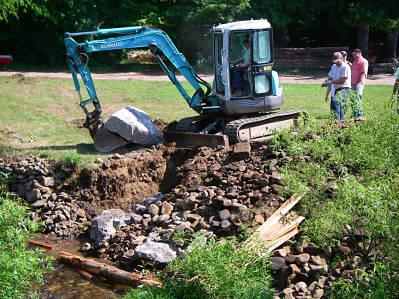Construction of mud sill crib