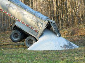 Truck Dumping Sand